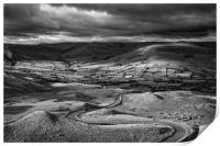 The Long and Winding Road  in Mono                , Print