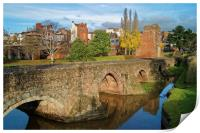 Medieval Exe Bridge                   , Print