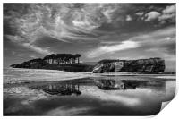 Coastline at Budleigh Salterton                   , Print