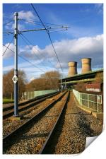 Tram Lines and Tinsley Cooling Towers, Print