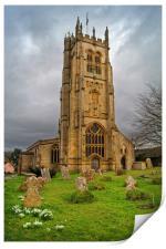 St Mary's Church,Beaminster,Dorset                , Print
