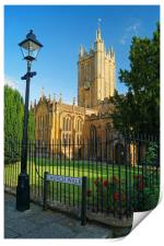 Church of St Mary, Ilminster, Somerset            , Print