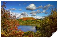 Burrator and Sheepstor In Autumn                  , Print