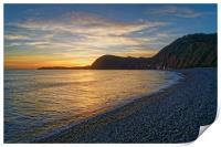 Sidmouth Sunset                      , Print