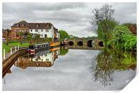 River Avon at Tewkesbury                          , Print