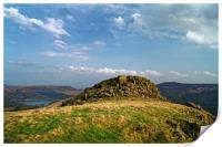 Crook Hill overlooking Ladybower                  , Print