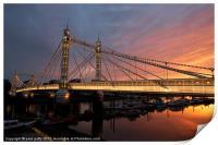 Albert Bridge, Print
