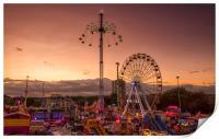Goose Fair Sunset , Print