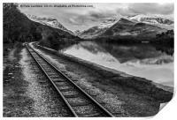 Llyn Padarn and Llanberis railway , Print