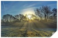 Misty Sunrays, Print