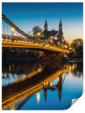 Hammersmith Bridge, Print