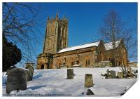 KINGSTON ST MARYS CHURCH SOMERSET, Print