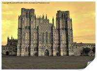 SEPIA WELLS CATHEDRAL WEST FRONT, Print