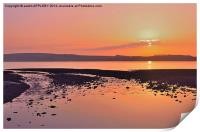 RED SKY NIGHT CUMBRAE DELIGHT, Print