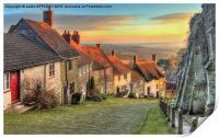 Winter Sunset Gold Hill Shaftesbury, Print