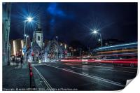 Light Trails Charles Church Plymouth, Print
