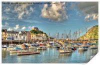Ilfracombe Harbour North Devon, Print