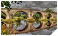 Stirling Old Bridge Reflections, Print