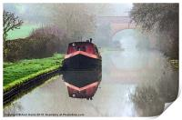 Foggy day on the Canal., Print