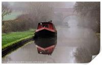 Mystical Barge on the Canal, Print