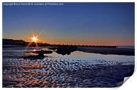 Sunset at Walcott Beach, Print
