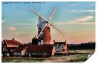 Cley windmill Norfolk, Print