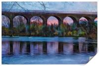 Viaduct at Reddish Vale Country Park, Print