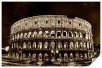 colosseum, coliseum, Print