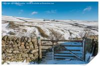 Ash Dub Farm, Teesdale, in Winter, Print