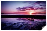 Troon Beach, Ripples, Print
