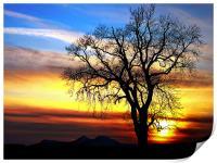 Rainbow Sky, Scottish Sunset, Print