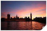 London Skyline Sunset, Print