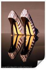 Zebra Print stiletto Shoes, Print