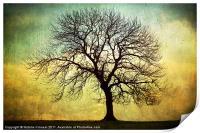 Digital Art Tree Silhouette, Print