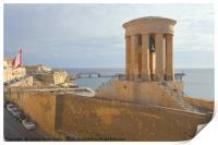 Siege Bell War Memorial, Valletta, Malta, Print
