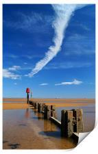 Cleethorpes Beach at Low Tide, Print