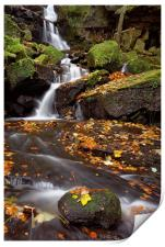 Lumsdale Falls in Autumn, Print