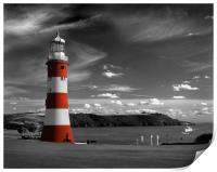 Smeatons Tower on Plymouth Hoe, Print