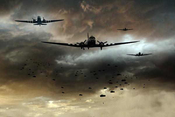 Normandy Invasion, Wood Print
